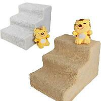 Pet steps with washable cover.