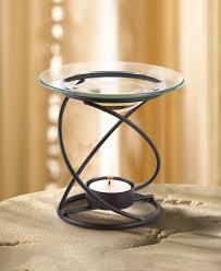 Oil Warmer Spiral Base Supports A Clear Glass Oil Dish