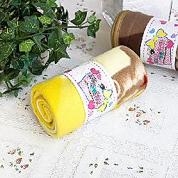 Teddy Bear Yellow Korean Coral Fleece Mini Baby Throw Blanket