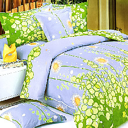 Blancho Bedding - [dandelion Dream] Luxury 7pc Mega Bed In A Bag Combo 300gsm (twin Size)