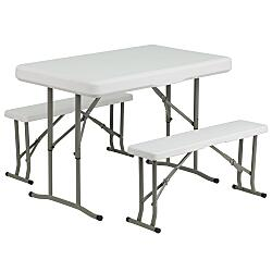 Folding Table and seats