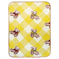 Teddy Bear - Yellow Korean Coral Fleece Mini Baby Throw Blanket