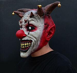 Creepy Halloween Latex Jester Mask